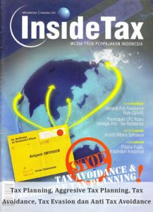 Inside Tax Edisi Perdana - Tax Planning, Aggresive Tax Planning, Tax Avoidance, Tax Evasion dan Anti Tax Avoidance