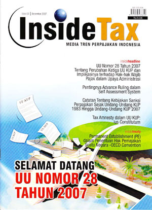 Inside Tax Edisi 2 - Selamat Datang di UU KUP Nomor 28 Tahun 2007
