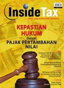 Inside Tax Edisi 9 - Kepastian Hukum dalam Pajak Pertambahan Nilai