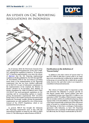 Newsletter - An Update on CbC Reporting Regulations in Indonesia
