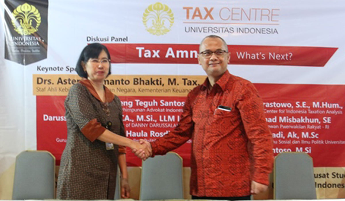 MoU between Faculty of Social and Political Sciences the University of Indonesia and DDTC