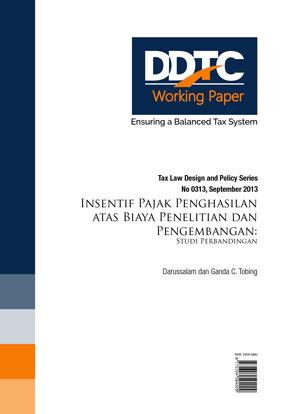 Working Paper - Insentif Pajak Penghasilan atas Biaya Penelitian dan Pengembangan: Studi Perbandingan