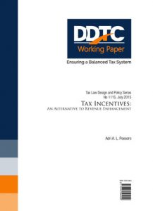 Working Paper - Tax Incentives: An Alternative to Revenue Enhancement