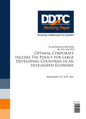 Working Paper - Optimal Corporate Income Tax Policy for Large Developing Countries in an Integrated Economy
