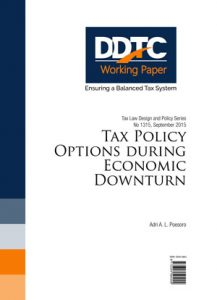 Working Paper - Tax Policy Options during Economic Downturn
