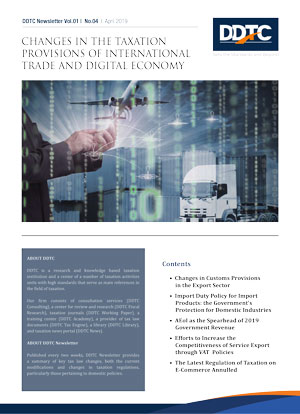 Changes in The Taxation Provisions of International Trade and Digital Economy