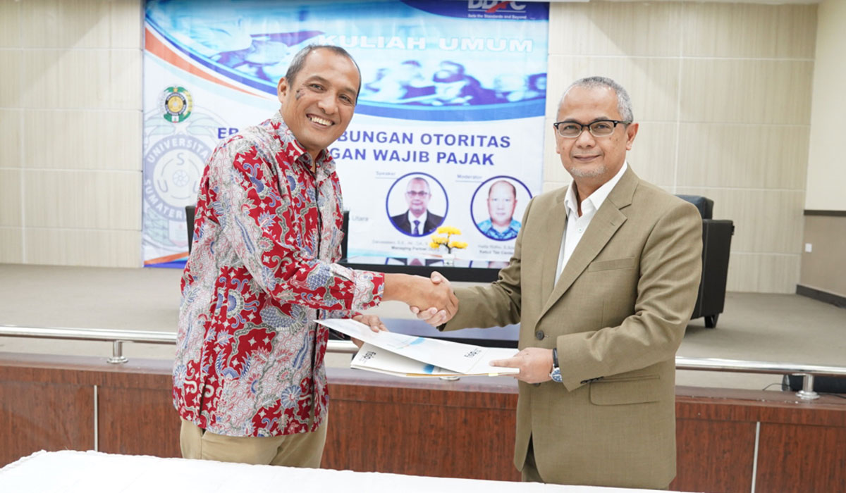 MoU between North Sumatra University and DDTC