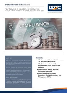 Newsletter - New Provisions on Article 25 Income Tax Installment and Compliance Risk Management