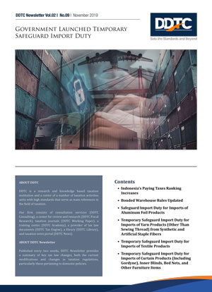 Newsletter - Government Launched Temporary Safeguard Import Duty