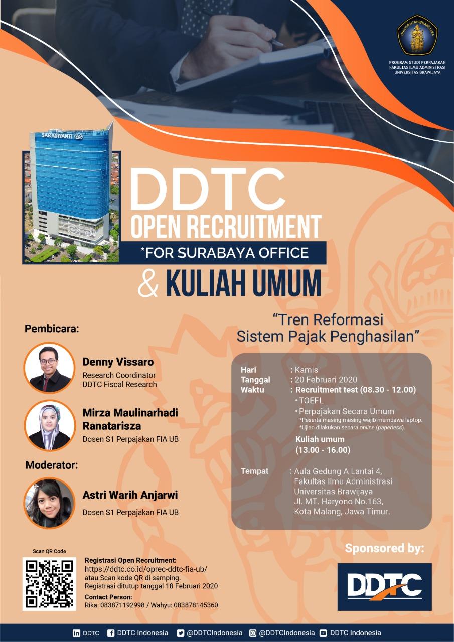 Open Recruitment DDTC - FIA Universitas Brawijaya 2020