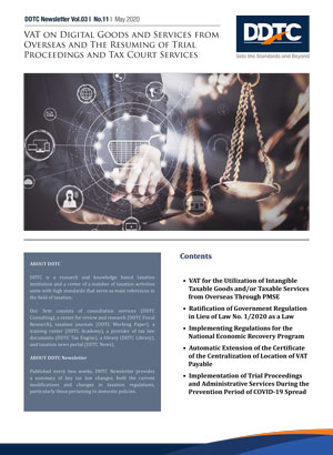 Newsletter - VAT on Digital Goods and Services from Overseas and The Resuming of Trial Proceedings and Tax Court Services