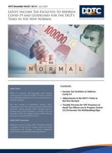 Newsletter - Latest Income Tax Facilities to Address Covid-19 and Guidelines for the DGT's Tasks in the New Normal
