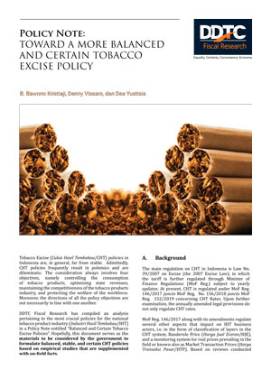Policy Note - Toward a More Balanced and Certain Tobacco Excise Policy