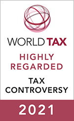 Highly Regarded International Leader - Tax Controversy
