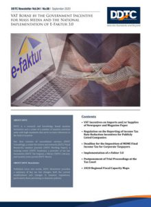Newsletter - VAT Borne by the Government Incentive for Mass Media and the National Implementation of E-Faktur 3.0