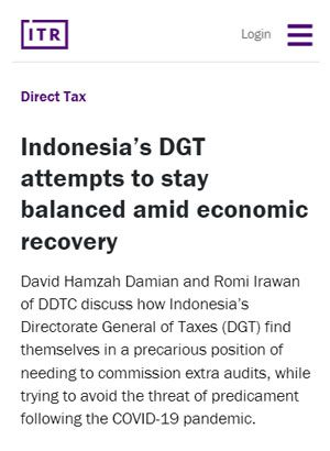 Indonesia's DGT Attempts to Stay Balanced Amid Economic Recovery