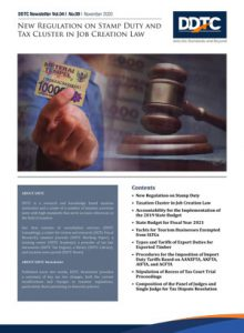 Newsletter - New Regulation on Stamp Duty and Tax Cluster Changes in Job Creation Law