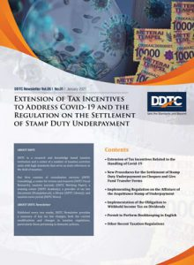 Newsletter - Extension of Tax Incentives to Address Covid-19 and the Regulation on the Settlement of Stamp Duty Underpayment