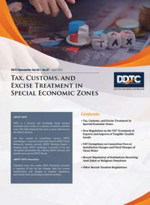 Tax, Customs, and Excise Treatment in Special Economic Zones