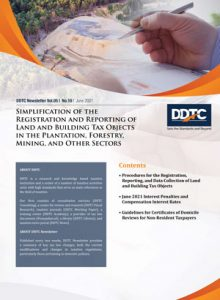 Newsletter - Simplification of the Registration and Reporting of Land and Building Tax Objects in the Plantation, Forestry, Mining, and Other Sectors