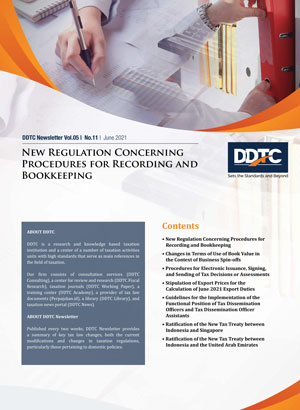 Newsletter - New Regulation Concerning Procedures for Recording and Bookkeeping
