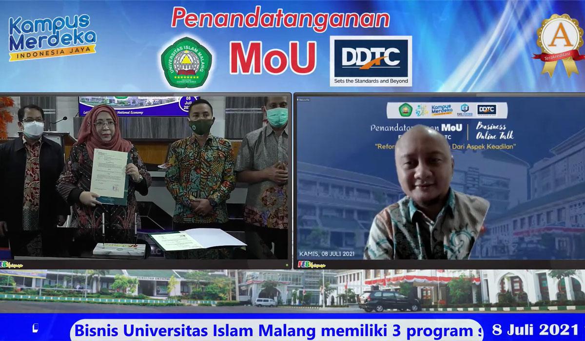 MoU between Universitas Islam Malang and DDTC