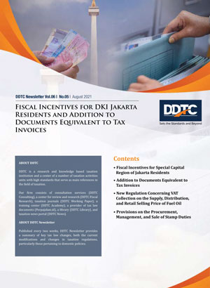 Newsletter - Fiscal Incentives for DKI Jakarta Residents and Addition to Documents Equivalent to Tax Invoices