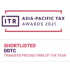 DDTC Shortlisted ITR - Transfer Pricing Firm of The Year