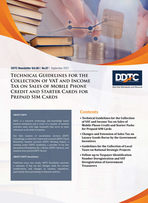 Newsletter - Technical Guidelines for the Collection of VAT and Income Tax on Sales of Mobile Phone Credit and Starter Cards for Prepaid SIM Cards