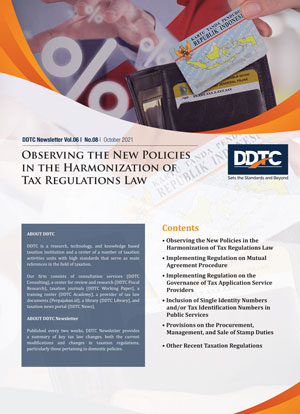 Newsletter - Observing the New Policies in the Harmonization of Tax Regulations Draft Law